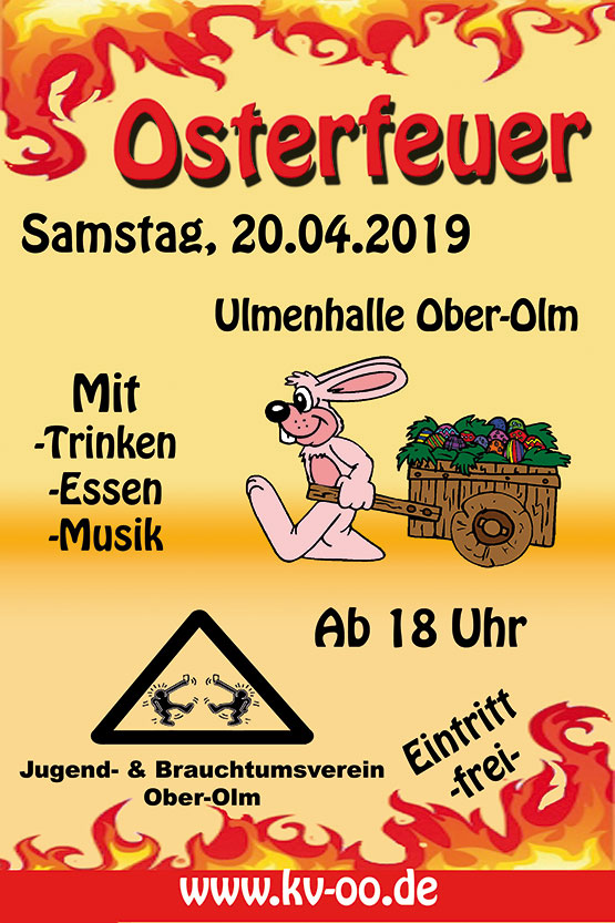 Osterfeuer 2019 in Ober-Olm